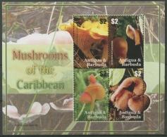 Antigua Und Barbuda 2007 Pilze Kleinbogen 4471/74 K Postfrisch (C12207) - Antigua Und Barbuda (1981-...)