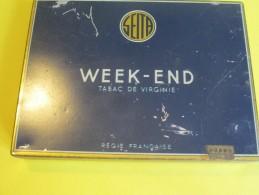Cigarettes / Boite Métallique/Week-End/Tabac De Virginie/Régie Française/Vers 1950 - 1970          BFPP60 - Etuis à Cigarettes Vides