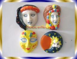 Masque De Venise De Prime 2009  ...Lot De 4 Feves... Ref AFF : 101-2009...( Pan 0012) - Personnages