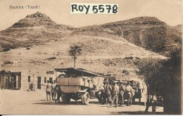 Libia Tripoli Bughilau Veduta Soldati Auto D'epoca Bella E Animata Veduta - Libia