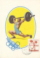 D23530 CARTE MAXIMUM CARD 1962 HUNGARY - WEIGHT LIFTING CP ORIGINAL - Weightlifting