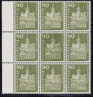 Schweiz 1960 Zu#368.2.01** 90Rp Munot Doppelprägung - Suisse