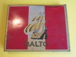 Cigarettes / Boite Métallique/Balto/Goût Américain/Régie Française/Vers 1950 - 1970          BFPP61 - Empty Cigarettes Boxes
