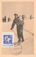 D23536 CARTE MAXIMUM CARD 1960 YUGOSLAVIA - SKIING OLYMPICS CP ORIGINAL - Skiing