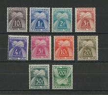 ANDORRE - YVERT N° 32/41 ** (LE 41 EST *) - COTE = 168 EURO