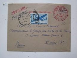 Marine Nationale-service à La Mer- Croiseur Jeanne D'Arc- Officiel Par Avion-Timbre Us 30 Cents- New Orleans- 31.12.1948 - Marcofilia (sobres)
