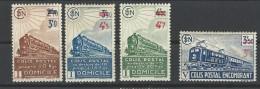 """FR Colis Postaux YT 204 à 207 """" Avec Surcharge """" 1943 Neuf* - Parcel Post"""