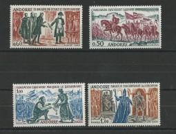 ANDORRE - YVERT N° 167/170 ** - COTE = 85 EURO -