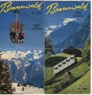 Turistbrochure 12 Seiten BRAUNWALD Schweiz Glarus 1955? - Reclame