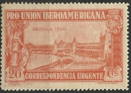 ESPAÑA 1930 Mi:ES 553, Sn:ES E9, Yt:ES EX12, Edi:ES 582 ** MNH - 1889-1931 Reino: Alfonso XIII
