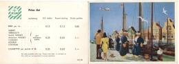 KLM Advertisement Postcard With Price List For Drinks Around 1960? - Zonder Classificatie