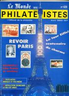 Le Monde Des Philatelistes N.429,4/89,Tour Eiffel,monuments Paris,polaire Pôle Sud,Mediterranée Poste,faux Lunaba 195 - French (from 1941)