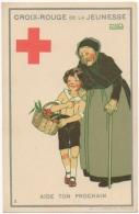 Croix Rouge De La Jeunesse. Illustrateur Maggie Salzedo. Aide Ton Prochain - Croix-Rouge