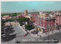 GENZANO DI ROMA PIAZZA DI ROMA TOMMASO FRASCONI STRISCIONE PARTITO LIBERALE ANIMATA VIAGGIATA 1965 - Italia