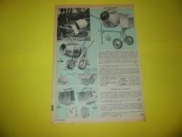 Publicité Bétonnières Lampes Et Appareils à Souder  Moteurs électriques Outils Plombiers Zingeurs  1968 - Publicités