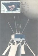 FRANCE SATELLITE EXPERIMENTAL D-1 SATELITE CPSM FDC 1966 EDITEUR G. PARISON ET B. REGNIER CARTE PHILATELIQUE TBE DOS DIV - Sterrenkunde