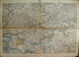 Tübingen - Topographische Karte 255 - 26cm X 36cm - Reymann 's Special-Karte - Entwurf Und Gezeichnet F. Handtke - Situa - Topographische Karten