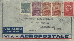 1932- Enveloppe  De S. LUIZ  Par Avion Pour La France (Aéropostale) Affr. à 7900 Reis - Brasil