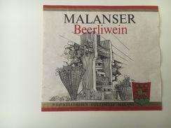 751 -  Suisse Grisons  Malanser Beerliwein - Etiquettes