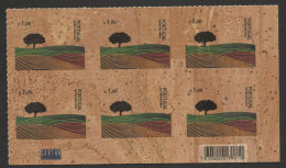 Portugal Premiere Timbre Fait De LIÈGE Arbre 2007 X 6 Code à Barres First Ever Stamp Made Of CORK Tree 2007 X 6 Barcode - Unused Stamps