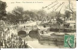 CPA NIMES Vue Générale De La Fontaine 4734 - Notre-Dame-de-la-Rouvière