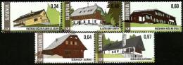 Slovenia - 2015 - Mountain Shelters - Mint Stamp Set - Slovénie