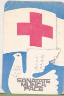 Romanian Small Calendar - 1983 Red Cross - Calendriers