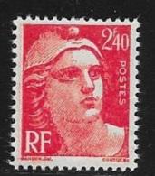 N° 714  FRANCE  -  NEUF  -  MARIANNE DE GANDON 2,40 ROUGE   -  1945 - Unused Stamps