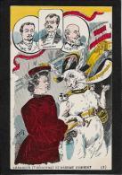 CPA Carte Ancienne Lapin Bunny Rabbit Fantaisie Illustrateur Non Circulé Satirique Humbert Roberty - Autres