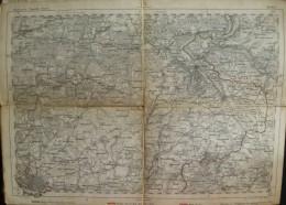 Berlin - Topographische Karte 75 - 26cm X 36cm - Reymann 's Special-Karte - Gez. F. Handtke - Gest. Von Heinr. Brose Sch - Topographische Karten