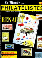 Le Monde Des Philatelistes N.440,4/90,Antarctique Chine,automobile Renault EMA,CP,carnet Pub,ONU,ambulant Ferroviaire - Magazines