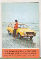 Romanian Small Calendar - The Motor Car Enterprise Colibasi Pitesti 1978 Calendar - Dacia Car - Calendriers
