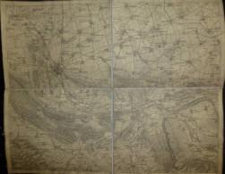 Hildesheim - Topographische Karte 30cm X 37cm - Topographische Karten