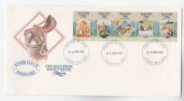 1987 Albany AUSTRALIA FDC Stamps MAN FROM SNOWY RIVER, HORSES Cover Horse - Primo Giorno D'emissione (FDC)