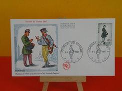 FDC, Journée Du Timbre 1967, Facteur De Ville Et Rural Du Second Empire  - Paris - 8.4.1967 - 1er Jour, Coté 3,50 € - FDC