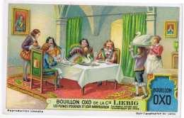 Cromo Liebig   LES PLUMES D OISEAUX ET LEURS MANIPULATION - Liebig