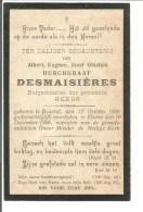 A21.  BURCHGRAAF  DESMAISIERES  -  BURGEMEESTER  Te HEERS - °BRUSSEL 1860 / +ELSENE 1906 - Images Religieuses