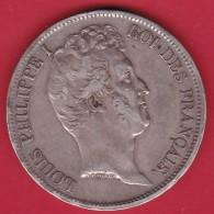 France 5 Francs Louis Philippe - 1831 W - Tranche En Creux - Argent - TB - J. 5 Francs