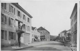 TRAVERS → Dorfstrasse Mit Hotel Henchoz, Ca.1930 - NE Neuenburg