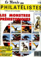 Le Monde Des Philatelistes N.438,2/1990,Dürer,timbre Demonetisé,préhistoire,ambulant Ferroviaire,faux Briat,two Pence, - French (from 1941)