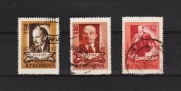 1957 - 85 Anniv. De Lenine Mi No 1511/1513 Et Yv No 1374/1376 - 1948-.... Republics