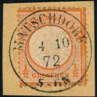 MATSCHDORF,Preussen Nachverwendung Wunderbar Zentrisch Auf Briefstück Mit 1/2 Groschen Gr. Brustschild (18) - Allemagne