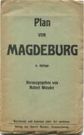 Plan Von Magdeburg 1927 - 47cm X 70cm - Herausgeber Robert Wunder Braunschweig - Karten