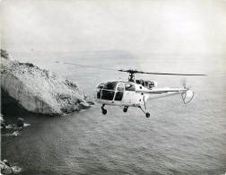 Photo Exploitation 18x24cm  SUD AVIATION - ALOUETTE III 9N-RF5 - NEPAL à Marseille 19/02/1965 - Aviación
