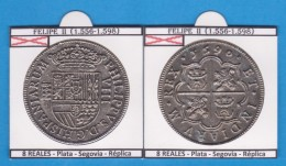 FELIPE II 8 REALES PLATA Segovia Réplica  T-DL-11.786 - Imitationen, Nachahmungen