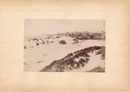 BERCK SUR MER, La Plage - Photo Albuminée 12 X 18,5 Cm Contrecollée Sur Carton - Editeur  ND Phot. - Alte (vor 1900)