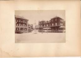 BERCK SUR MER, Les Hotels Et Le Calvaire - Photo Albuminée 12 X 18,5 Cm Contrecollée Sur Carton - Editeur  ND Phot. - Alte (vor 1900)