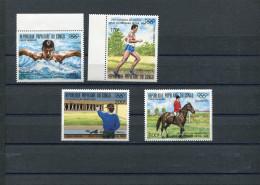 CONGO 1987 Jo Seoul 1988 Y&T Pa 381-384** Natation Tir Equitation Cross - Ete 1988: Séoul