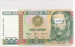 Billets -B2049 - Pérou - 1000 Intis 1988    ( Type, Nature, Valeur, état... Voir Double Scan) - Perú