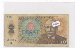 Billets -B2051- Tchécoslovaquie - 10 Desat  Korun  1986 ( Type, Nature, Valeur, état... Voir Double Scan) - Tchécoslovaquie